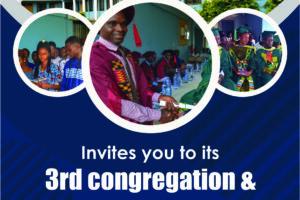 3rd Congregation & Matriculation flyer
