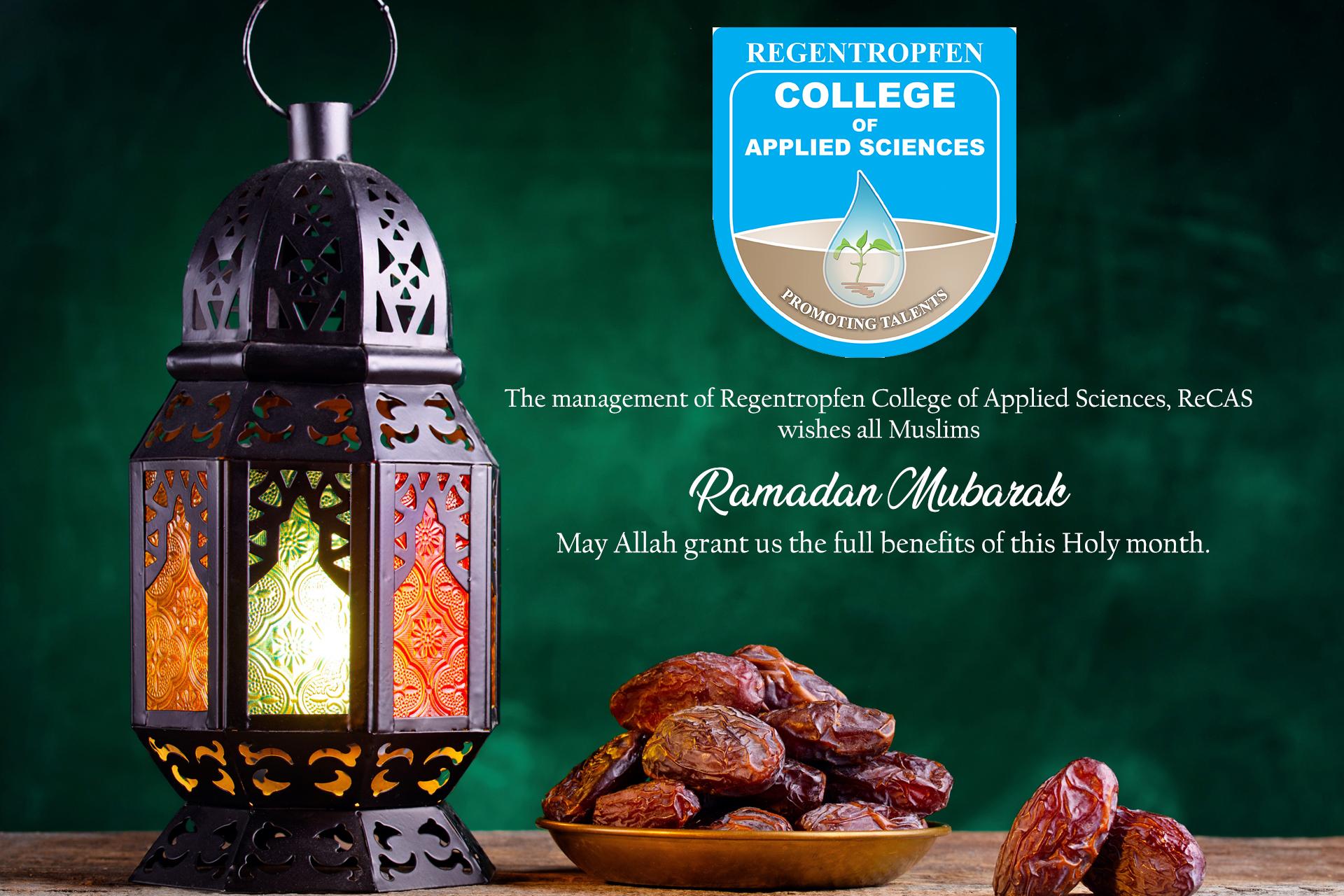 ReCAS Ramada message